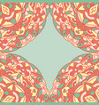 seamless pattern on green vector image