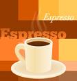 cup of espresso vector image