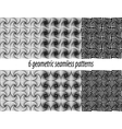 6 Paradox zentangle patterns vector image vector image