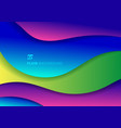 abstract fluid colorful trendy gradient 3d paper vector image vector image