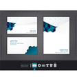 abstract set envelopes corporate vector image