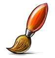 Artist paint brush icon isolated on white vector image vector image
