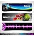 banner set on a music and party theme vector image vector image