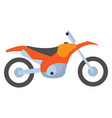bicycle side view motorbike orange cycle vector image vector image