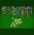 birthday greeting card with place for your text vector image vector image