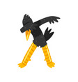 black bird standing in dub dancing pose cute vector image vector image