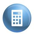 calculator icon simple style vector image