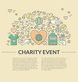 Charity Banner vector image vector image