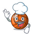 chef volleyball character cartoon style vector image vector image