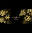 christmas card with gold snowflakes and vector image