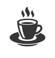 coffee cup icon on white background vector image vector image