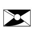 contour e-mail letter message style design vector image