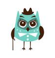 cute cartoon owl bird wearing in elegant clothes vector image vector image