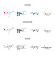 design of plane and transport sign set of vector image vector image