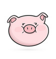 disgruntled emoticon icon emoji pig vector image
