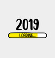 doodle download bar2019 loading text vector image vector image