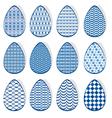 egg set blue 380 vector image