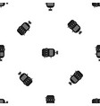 electric motor pattern seamless black vector image vector image