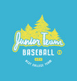 emblem junior baseball team vector image vector image