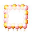 festive balloon in an empty frame color golden vector image vector image