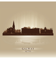 Galway Ireland skyline city silhouette vector image vector image