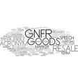 Gnfr word cloud concept