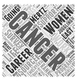 Going On With Life Women Juggling Cancer And vector image vector image