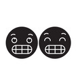 grimacing emoji black concept icon vector image vector image
