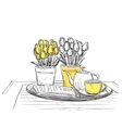 Hand Drawn dinner wares vector image
