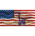 happy independence day - a poster with the us flag vector image vector image