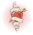 heart pierced by an arrow vector image vector image