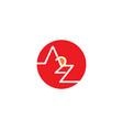 initial letter a2z design logo vector image vector image