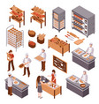 isometric bakery set vector image vector image