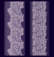 lace paisley vertical seamless border - set vector image vector image