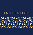 luxury marine geometric pattern for invitation vector image vector image