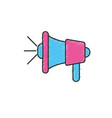 megaphone tool to speaker communication message vector image