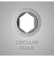 metal circular frame for text text box vector image