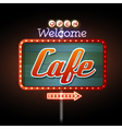 Neon sign Cafe vector image vector image