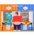 Obesity Design Composition vector image