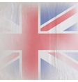 old vintage paper texture with british union jack vector image vector image
