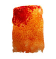 orange watercolor stain vector image