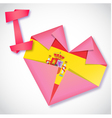Origami paper I love Spain heart card vector image