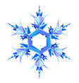 origami snowflake vector image vector image