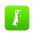 penguin icon green vector image