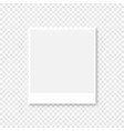 photo frame in white color with shadow on vector image vector image
