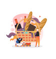 picnic basket concept for web banner vector image