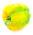 Poly yellow bell pepper vector image vector image