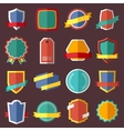 set retro vintage labels signs and badges vector image