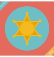 Sheriff star icon - vector image vector image