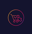 shopping cart completed order e-commerce icon vector image vector image